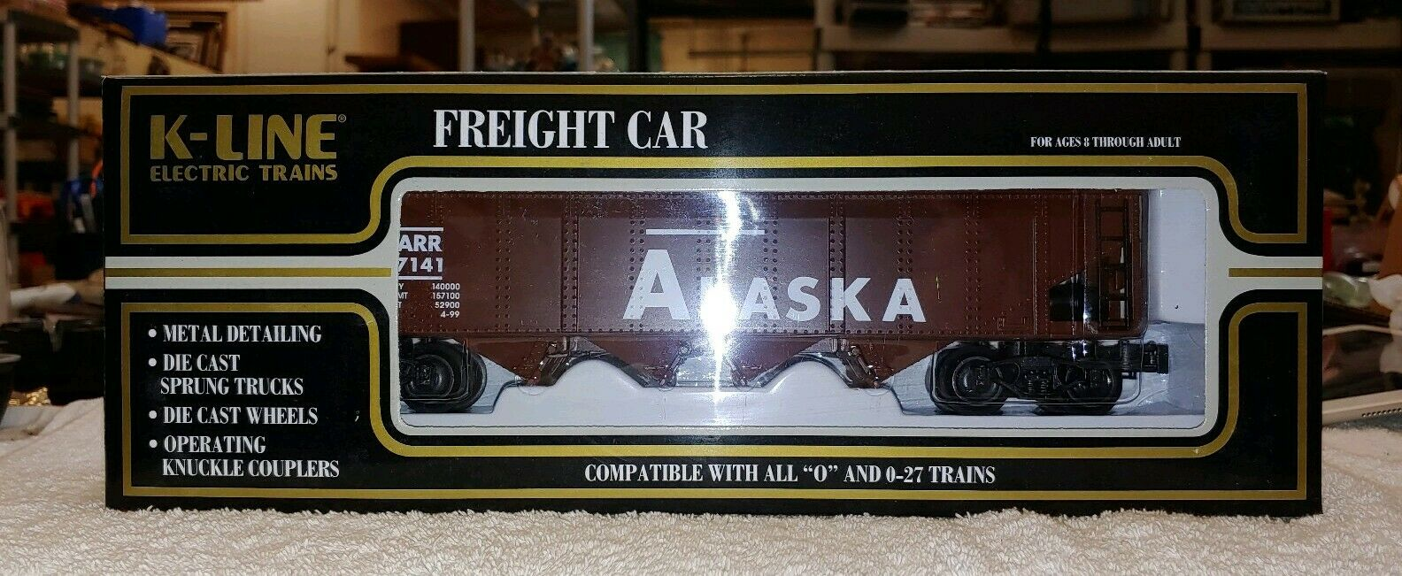 K-Line Alaskan Classic Diecast Hopper w  load (K623-1011) NIB, (F2)