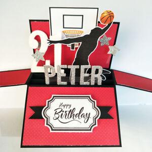 Image Is Loading Handmade Name Amp Age Personalised Birthday Card Basketball
