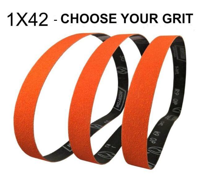 "Each Norton 1/"" x 42/"" R283 Metalite Sanding Belts P60-X Grit"