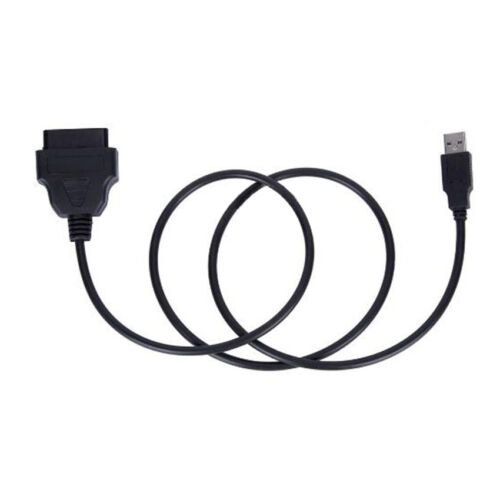 OBDII Charging Cable USB Car Charger Power Adapter OBD2 16pin Port Connector