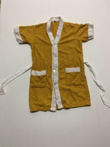 Vintage Terrace Club Marigold Color Terry Cloth Ro