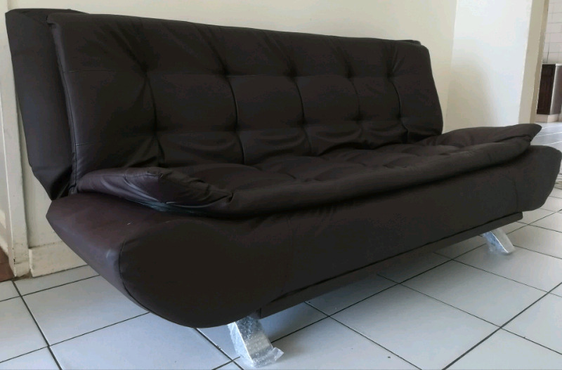 New Brown Faux Leather Sleeper Couch Eastern Pretoria