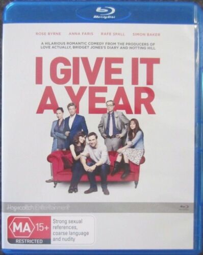 1 of 1 - I Give It A Year (Blu-ray, 2013) Like New