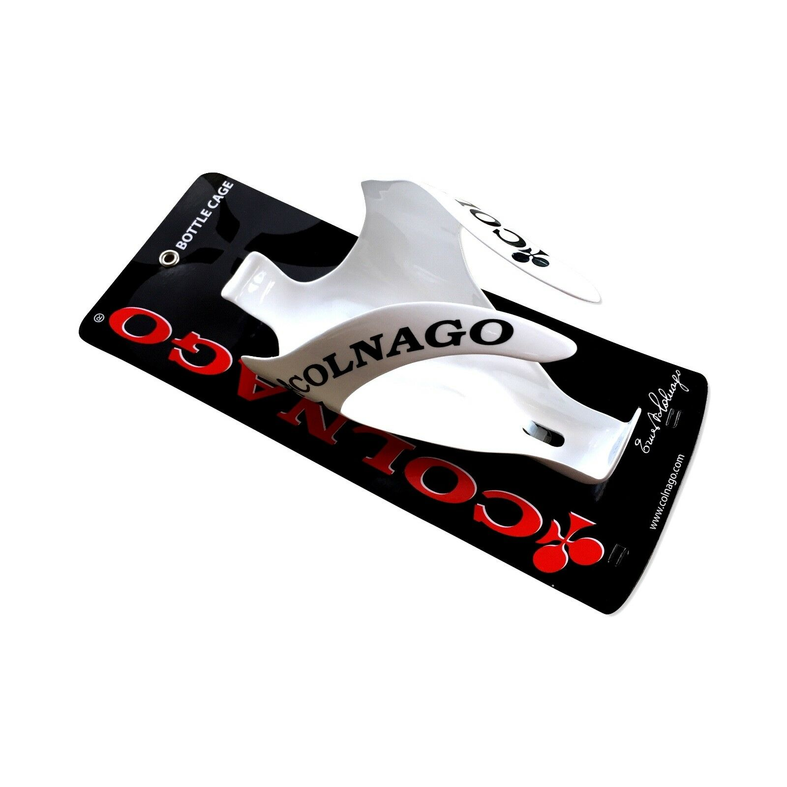 New Colnago  Carbon Water Bottle Cage Holder in Gloss White, really light  80% off