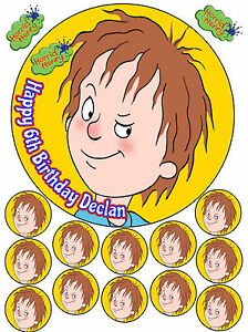 Image Is Loading Horrid Henry 7 5 034 Round Cup Cake