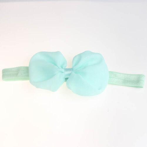 Baby Bow Headband Newborn Hair Accessory Kids Hair Band Bow Elastic Stretchy
