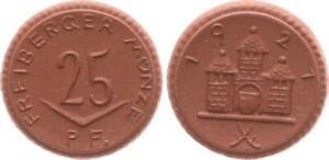 25 Pfennig 1927 Freiberg Coin Probeprägung Gipsform Mint State (44329)