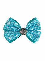 Disney Little Mermaid Ariel Seashell Bow Tie Hair Clip Pin Costume Dress Up