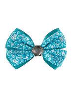 Disney Little Mermaid Ariel Seashell Bow Tie Hair Clip Pin Costume Dress Up