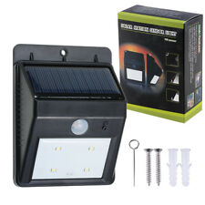 LED Solar Power PIR Motion Sensor Wall Light 4led Waterproof Outdoor Lamp Garden