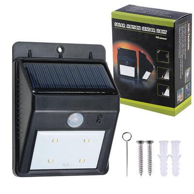 LED Solar Power PIR Motion Sensor Wall Light 4LED Waterproof Outdoor Lamp Garden
