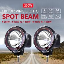 2pcs 200w 9inch Hid Xenon Driving Light Off Road Work Lamp Euro Beam Spotlight