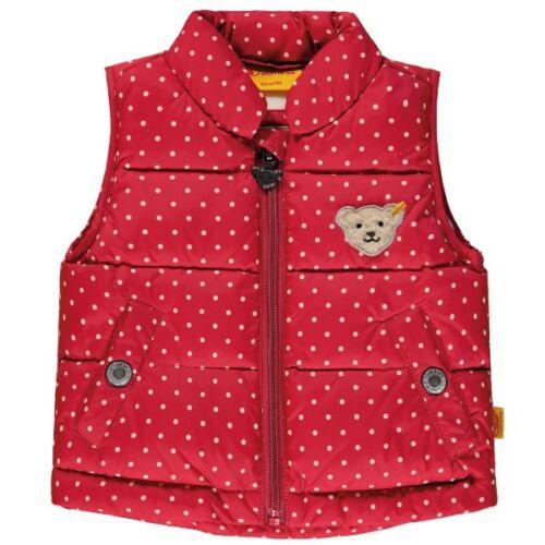 STEIFF Mädchen Weste rot gepunktet 6843807 Größen 86-104 NEU