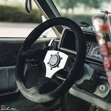 VIILANTE LEGGERA 350mm STEERING WHEEL SUEDE **BLACK STITCH** FITS BMW E36 E36M3