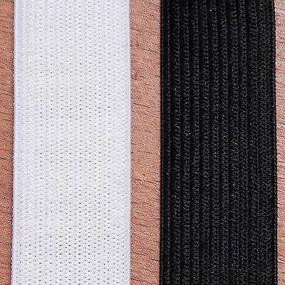 25mm breites Gummiband aus Polyester schwarz 25m Rolle