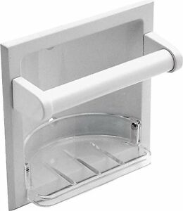 MINTCRAFT L770H-51-07 Soap Holder/Grab Bar, White Coral