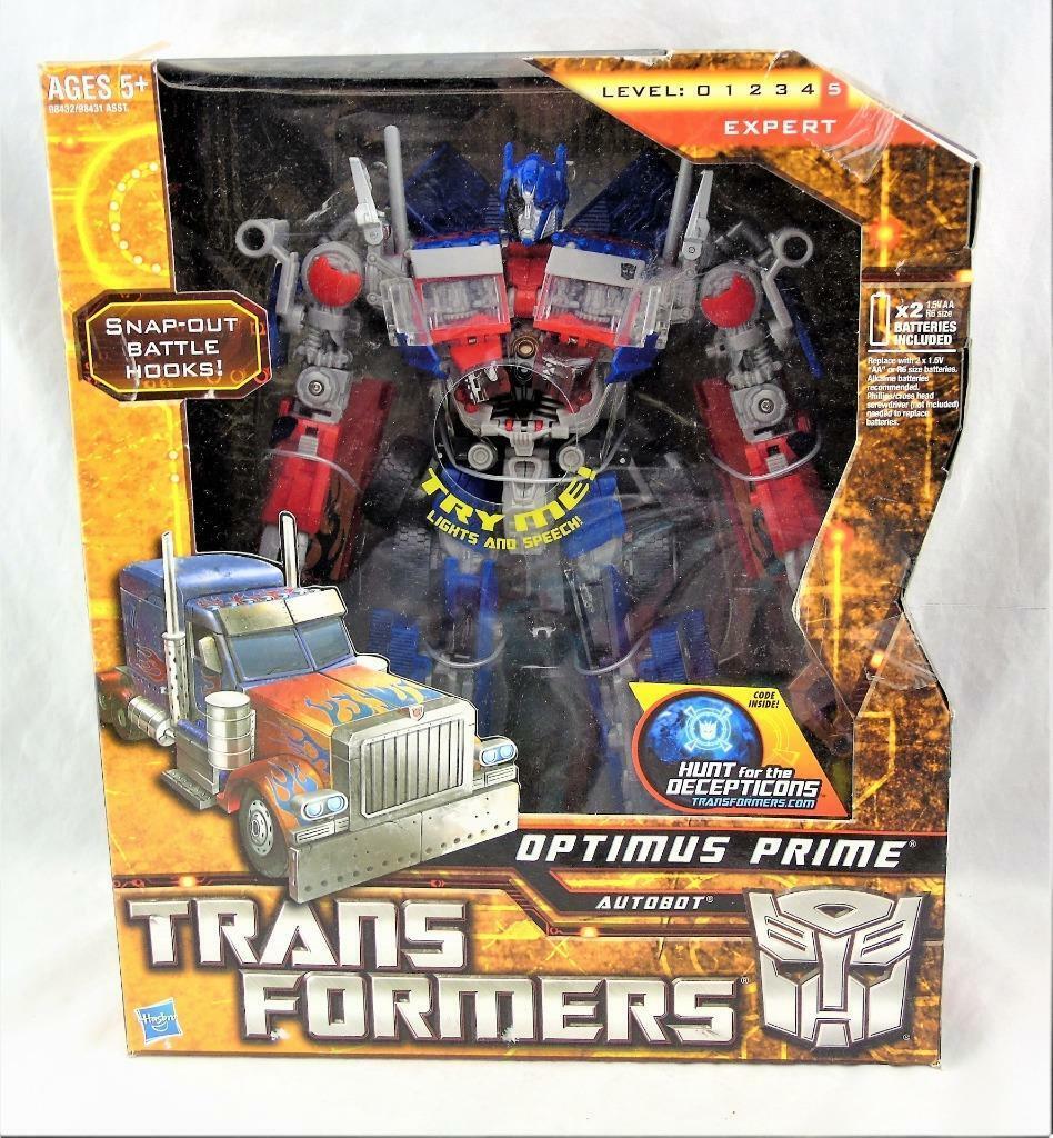 Caza de los Decepticons De Transformers Hftd Voyager Class Optimus Prime