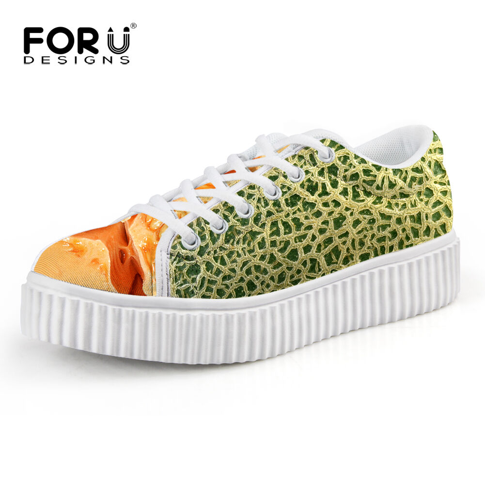 Comfort Lace Up Creeper Boat Sneaker shoes Women Flat Baseball Athletic Trainers