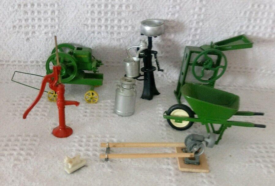 Gilson Lenglet miniatures John Deere E CORN SHELLER économie écrémeuse pompe +