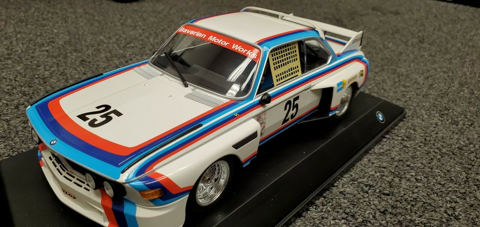 BMW 3.0 CSL Coupe Equipo BMW Motorsport N 25 ganador 12h Sebring 1975 Diecast Modelo