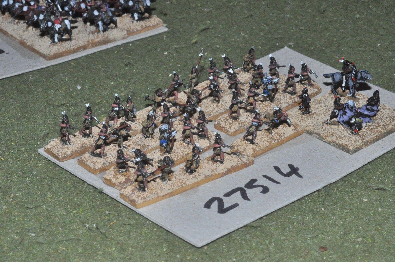 10mm ACW   indian - warriors 42 figures - inf (27514)