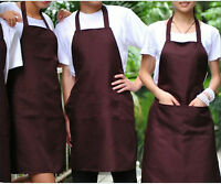 Mens Womens Bbq Cooking, Hair Cutting, Chef Kitchen Aprons (coffee)