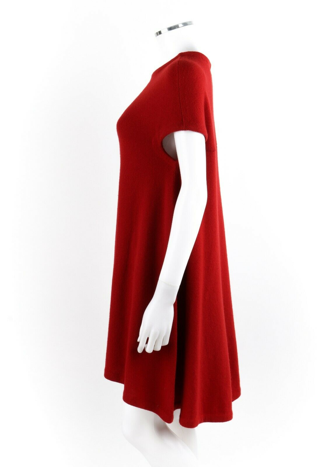 BALENCIAGA Ruby Red Knit High Low Cap Sleeve Mini… - image 4