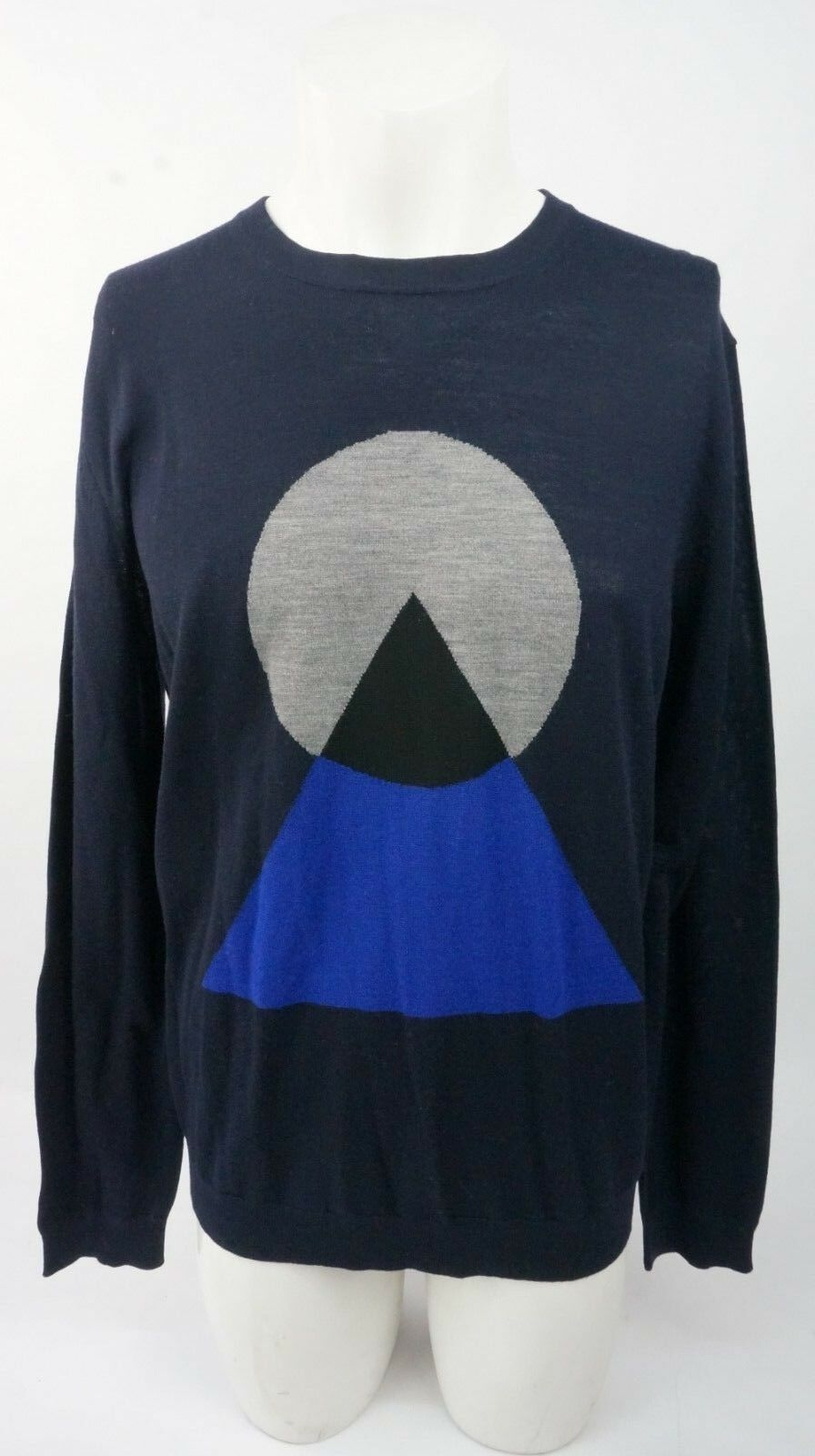 KENZO Men's Navy Merino Graphic Jumper Size L BNWTS RRP
