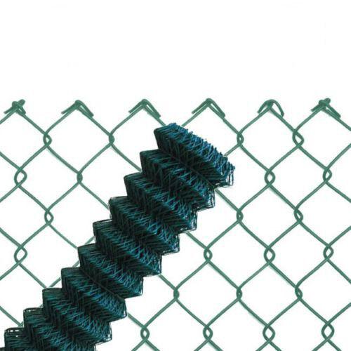 30m Maschendrahtzaun grün 60x2,8x2000 Viereckgeflecht Maschinengeflecht  Zaun