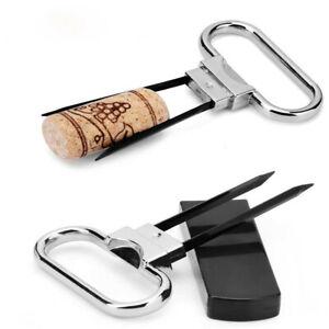 Kork-Puller-Ah-so-Wine-Opener-Rotwein-Champagner-Kueche-Korkenzieher