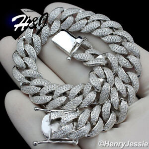 8-5-034-MEN-925-STERLING-SILVER-12MM-ICED-LAB-DIAMOND-MIAMI-CUBAN-CHAIN-BRACELET-S12