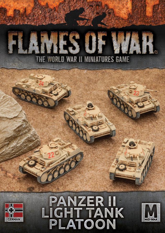 Flames of  War 4th edizione Geruomo Panzer II Light Tank Platoon GBX102  trova il tuo preferito qui