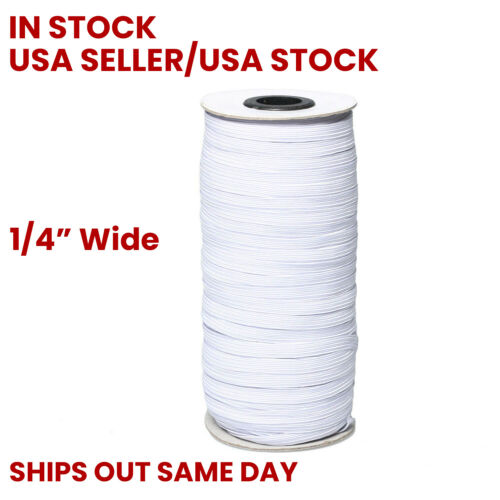 "311 Feet Roll SHIPS OUT TODAY NEW Elastic Cord String Flat Band 1//4/"" 6mm"