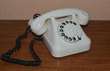 Antique Rotary Bakelite phone ISKRA ATA 12 white WWII 50s Mid Century Yugoslavia