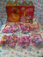 My Little Pony Mcdonald's Happy Meal Toys Complete Set Of 8 W/ Box - 2012