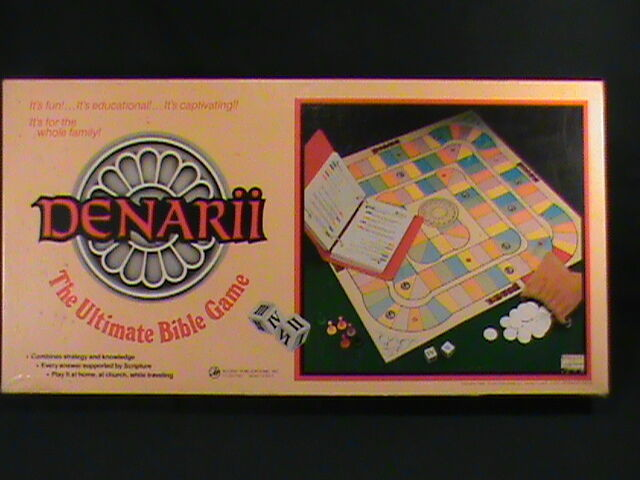 Denarii The Ultimate Bible Board Game Complete Vtg Finance Educational Family