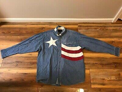 Ely Patriotic USA Flag Stars /& Stripes Short Sleeve Western Cowboy Rodeo Shirt