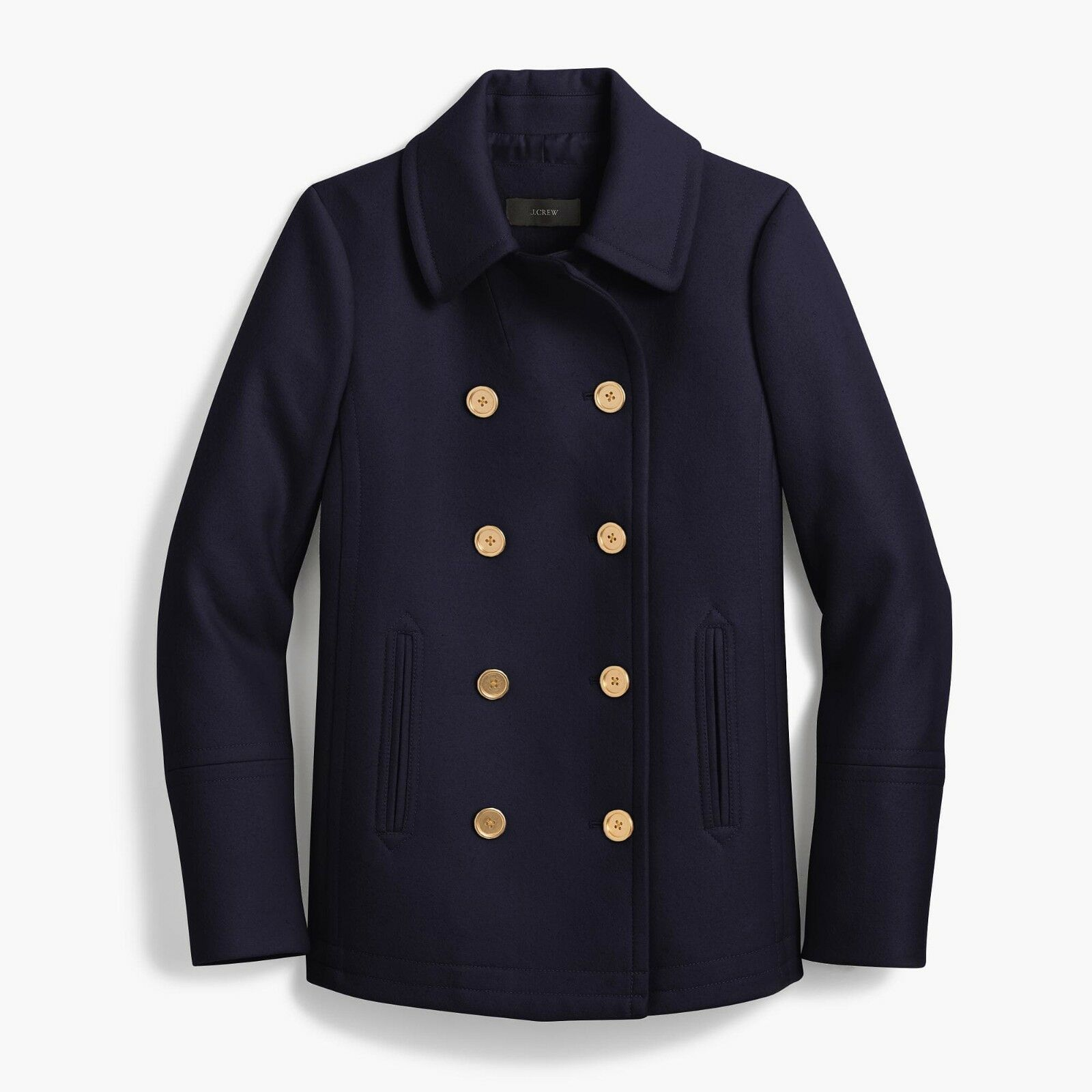 NWT J Crew Women's 2008 Andover Peacoat in Italian Wool - Navy - 6