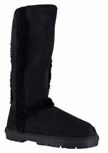 Mujer-Ella-Zapatos-Mandy-negro-invierno-piel-botas