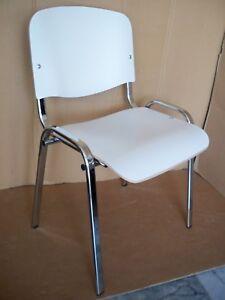 Stuhl Besucherstuhl Kuchenstuhl Marco Weiss Stapelstuhl Holz Metall