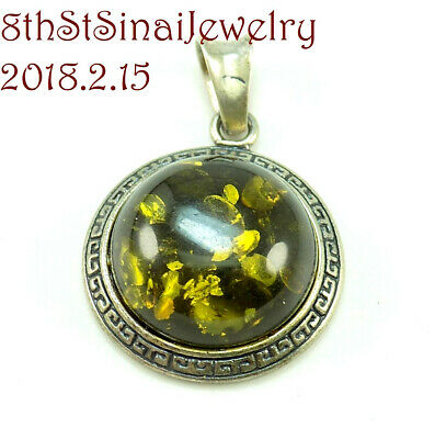 Amber Pendant in Silver Frame Silver 925 Silver 925