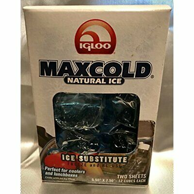Igloo Corporation MaxCold Natural Ice Substitute Sheet 18.50 X 7.5 with 44 Cubes