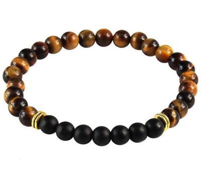 8MM Tiger/'s-eye Buddhist Bead Bracelet Lucky Buddhism Meditation Energy Cuff