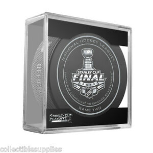 New 2015 NHL Stanley Cup Blackhawks Lightning Sherwood Official Game Puck #2 Two