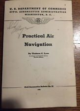 Private Aircraft Vintage Practical Air Navigation By Thoburn Lyon 1940 Softcover Transportation