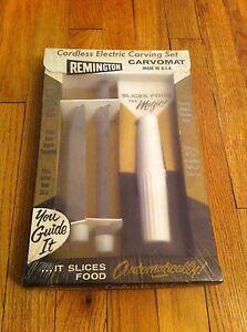 Vintage Cordless Electric Carving Set Remington Carvomat