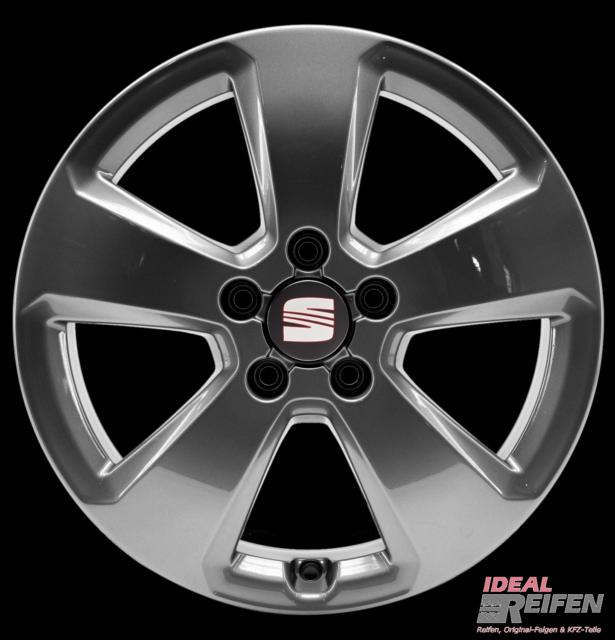 SEAT LEON 1p llantas de aleación de 17 pulgadas original Audi LLANTAS 8vc TG