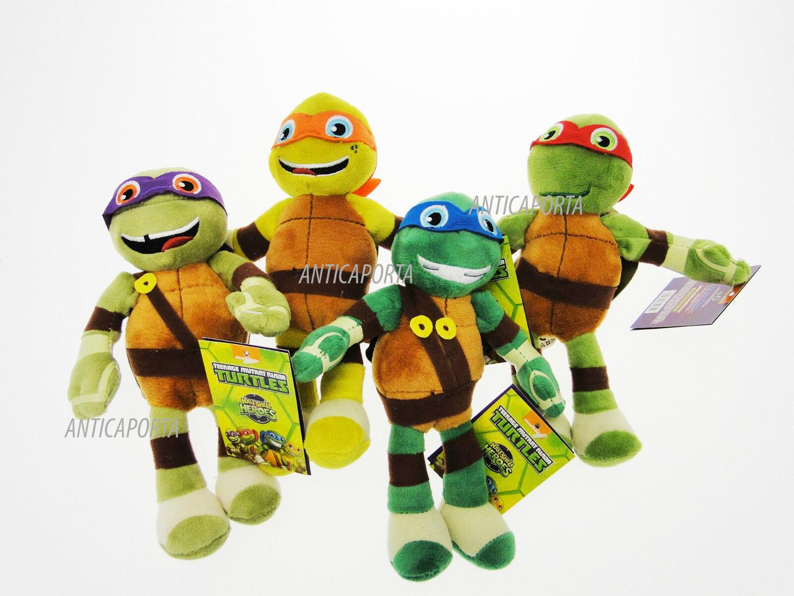 Peluche Tartarughe Ninja Originali Ninja Turtles Sorridenti 21 cm Half-Shell