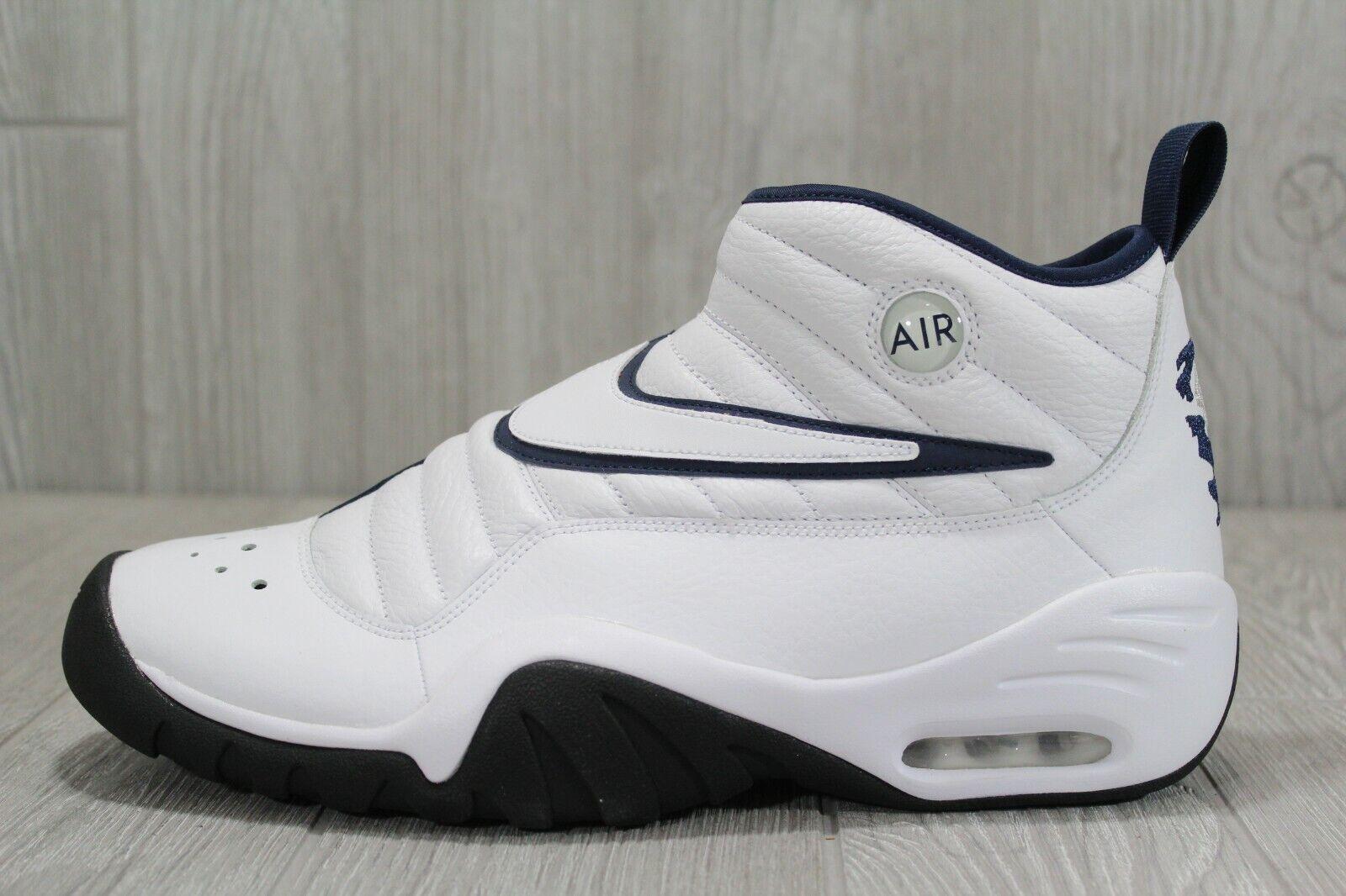38 Nike Air Shake NDestrukt White Black Rodman Basket shoes 10 - 13 880869-102
