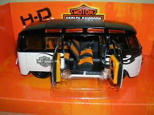Maisto-Harley-Davidson-Personnalisee-Volkswagen-Van-T1-034-Samba-034-H-D-Design-1-25